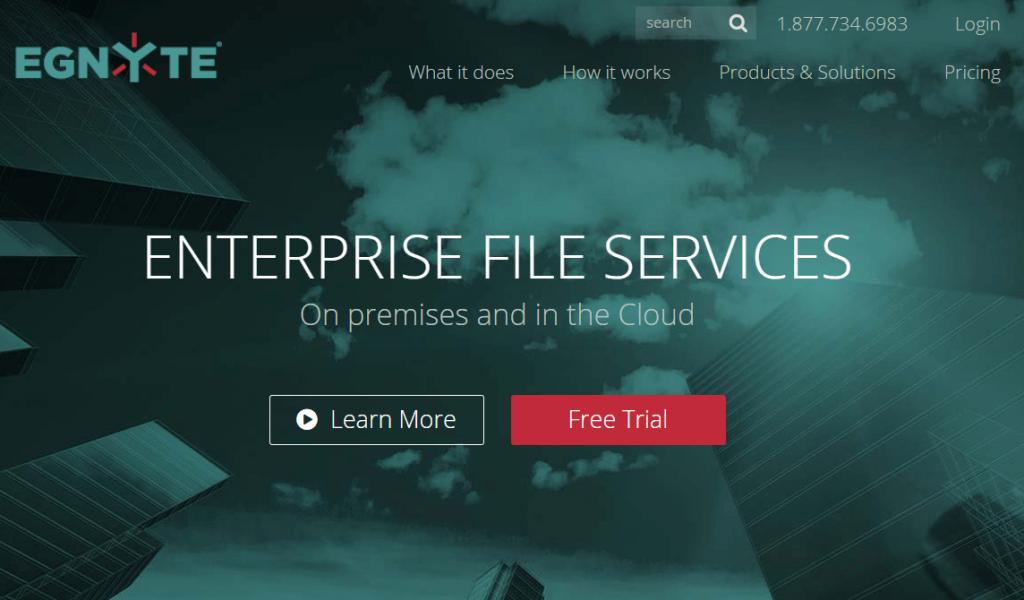 egnyte cloud opslag voor bestanden voor bedrijf en persoonlijk