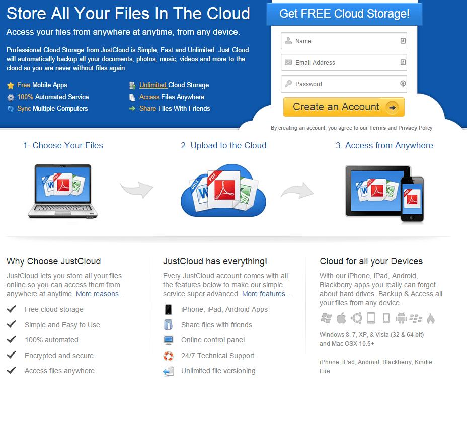Veilige en supersnelle cloud opslag/backup met Just Cloud